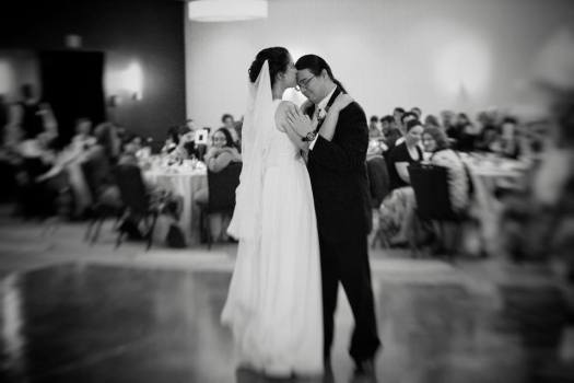 At the end of our first dance.